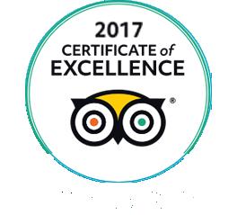 Certificato d'eccellenza Trip Advisor 2017