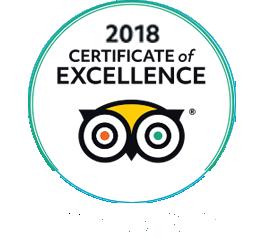Certificato d'eccellenza Trip Advisor 2018