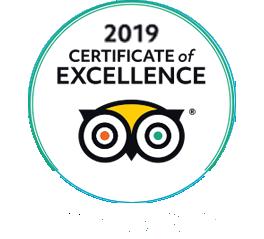 Certificato d'eccellenza Trip Advisor 2019